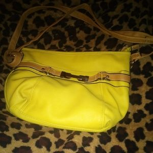 Rosetti neon green shoulder purse